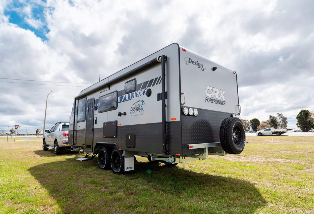 Design RV CRX Caravans on grass