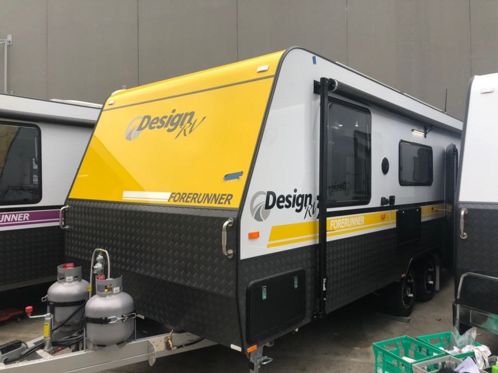 design rv forerunner yellow